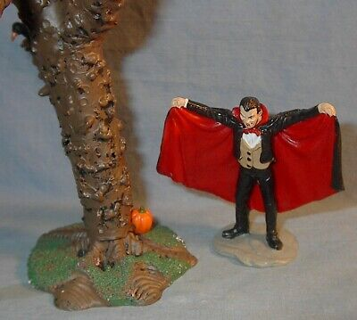 VINTAGE LEMAX SPOOKY TOWN DRACULA and TREE WITH BIRDS LOOSE listing others