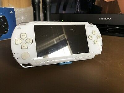 Sony PSP-1003 Ceramic White Video Game Handheld Console Used Free P&P