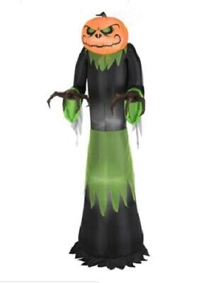 Gemmy Airblown Pumpkin Reaper 5 foot Halloween Inflatable