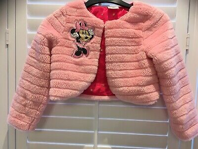Disney Store Minnie Mouse Cardigan Coat Pink 5-6 Yrs Little Girl Christmas New