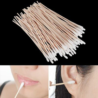 """15cm 6"""" Extra Long Swab Wooden Cotton Wool Ear Bud Stick Cleaning Clean Buds"""