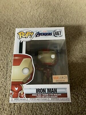 Iron Man Funko Pop #467 Avengers Endgame Boxlunch Exclusive!! New!!