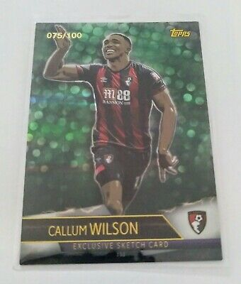2018/2019 Topps Match Attax Ultimate 18/19 - Wilson Bournemouth Sketch Card /100