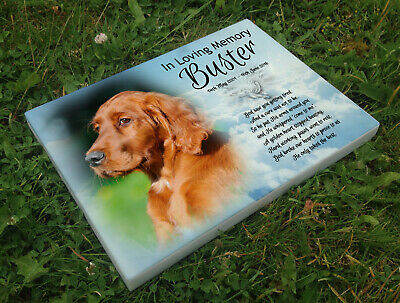 Personalised grave headstone memorial plaque dog Red Setter or any breed
