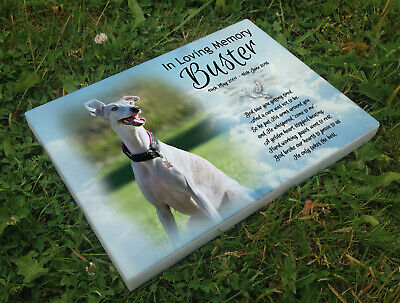 Personalised grave headstone memorial plaque dog Whippet or any breed
