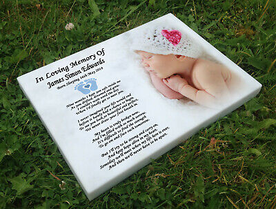 Personalised grave headstone memorial plaque Baby infant still born loss