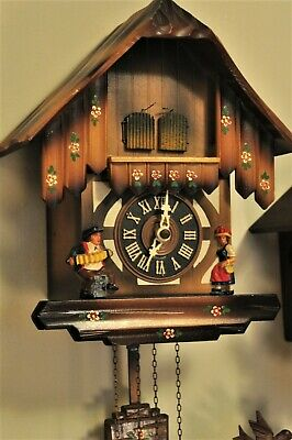 Black Forest Chalet Style Cuckoo Clock with 2 cuckoos; Hubert Herr; See Video