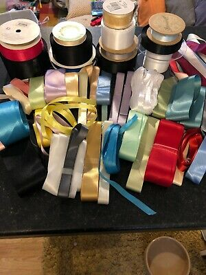 Job Lot Satin Ribbon 100s Of Metres Various Colours & Lengths Dressmaking Crafts