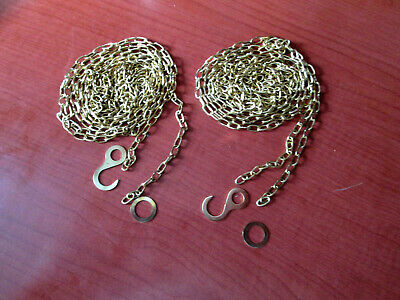 """2 New Old Stock Cuckoo Clock Weight Chain 69""""   53LPF.   (525A1)"""
