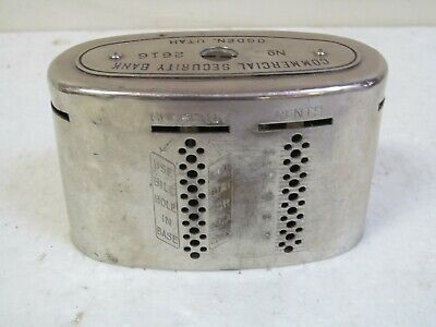 Vintage metal coin and bill  savings bank commercial security bank