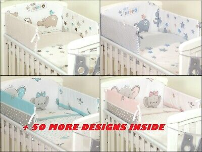 +50 DESIGNS 3 or 5 pcs BABY BEDDING SET - fit Cot 120x60cm or Cot Bed 140x70