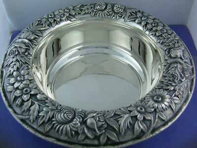 "Sterling S KIRK & SON 9 1/2"" Fruit / Vegetable Bowl REPOUSSE no.219AF ~no mono"