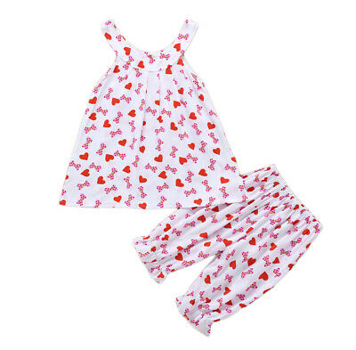Sans Manche 2pcs / Ensemble Bébé Fille Robe et Pantalon Neuf 2019.Fashion Cool