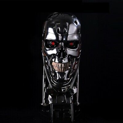 Exclusive Terminator T2 T800 Silver EndoSkull Resin Cyber Chronicle Replica Prop