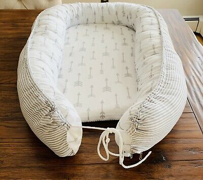 Portable Baby Nest Bed Newborn Lounger Cocoon Pod Cotton Baby Crib