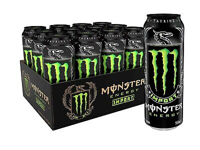 Monster Energy Import, Energy Drink, 18.6 Ounce (Pack of 12), Free Shipping