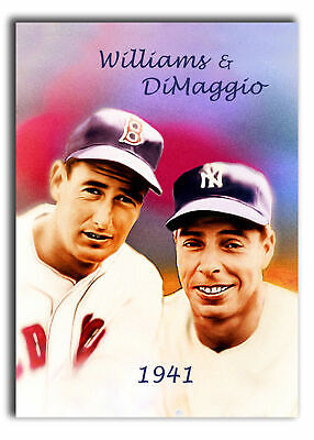 Aceo Ted Williams-Dimaggio Brs 11/20 Art Sketch Card Limited Print Artist Signed