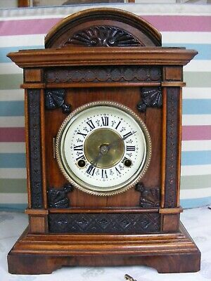 Antique/19th century Mantle Clock with lovely carved detail to the case