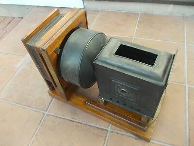 MAGIC LANTERN antique mahogany with brass fittings projector Horizontal Enlarger
