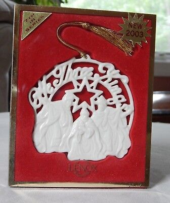 Lenox Ornament We Three Kings  Songs of Christmas   Holiday   7th in Series