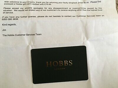 Hobbs credit voucher for £75