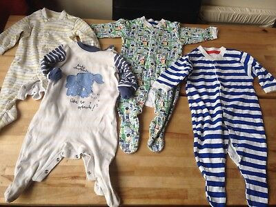 Next Early Days Baby boys Toddlers sleepsuits x 4, 3-6 months VGC