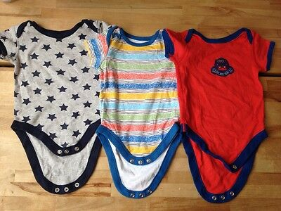 M&S Marks and Spencer Baby boys Bodysuits x 3, 3-6 months VGC