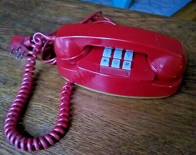 Red Vintage Princess Push Button Princess Phone Western Electric Bell