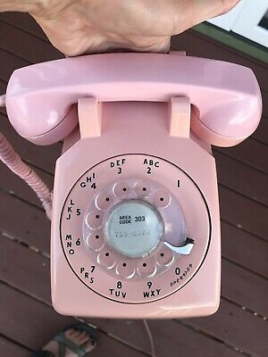 1970s Pink Western Electric Bell System 500 Rotary Desk Telephone Vintage Pretty