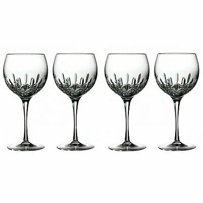 New Waterford Lismore Essence Balloon Crystal Wine Glasses Set of 4