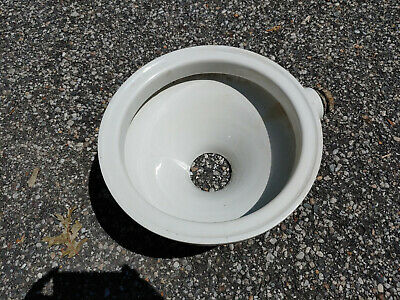 Vintage Vitreous China Short Hopper Toilet by Keystone Pottery