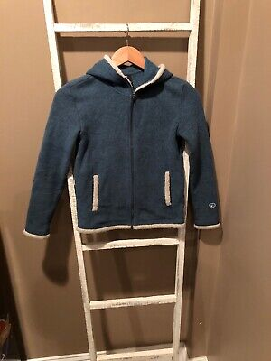 KUHL Girls Blue Zip-Up Hoodie Jacket Size Youth L (12) Workout Hiking Sweatshirt
