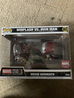 Funko POP Marvel Whiplash vs. Iron Man 361  Movie Moments Collector Corp Excl