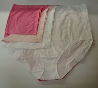 QVC Breezies Women/'s Cotton Full Brief Panties Qty 6 Wht//Nude//Pk//Mint//Gray Sz 7