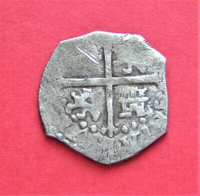 1500s Spanish Silver 1/2 Reales Real Cob Coin Colonial Pirate Treasure Shipwreck