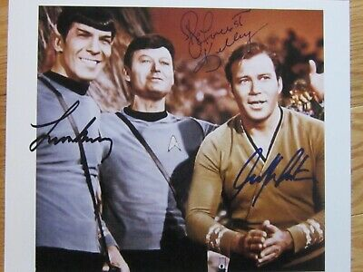 William Shatner Leonard Nimoy Deforest Kelley Best Autograph- Signed Photo W COA