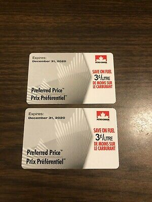2 Petro Canada Fuel Savings Cards - 3¢/l off 500 L total value is $30 (1000 L)