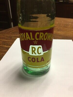 Vintage RC Royal Crown Cola 8oz Green Glass Bottle Nehi Bottle Co Uniontown PA