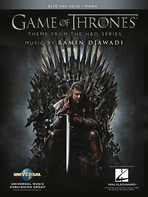 Game of Thrones for Alto Sax and Piano Theme from the HBO Series Sheet Music