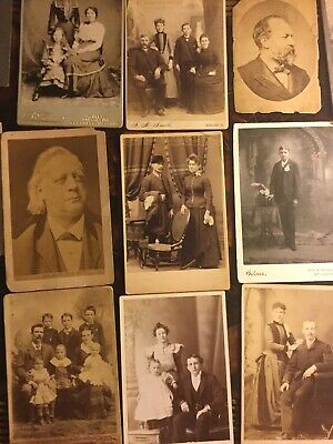 Lot Of 40 Antique CABINET CARD and 19th Century Photographs