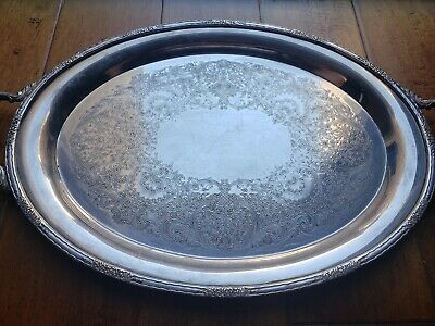 Vintage Camille International Silver Company 6081/20 24 inch Large Serving Tray
