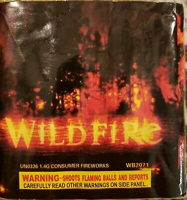 Wildfire 200g 25 shot cut off collectable Firework label (salute, thunder king)