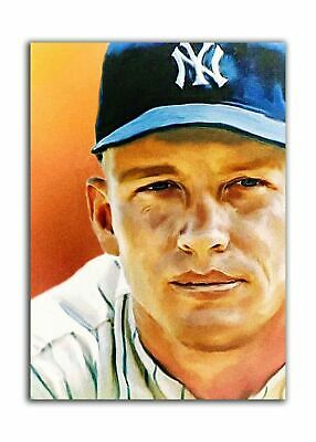 Aceo Mickey Mantle # 2 Nyy 17/24 Limited Print Art Sketch Card Artist Signed