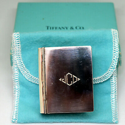 Vintage Tiffany & Co Sterling Silver Little Webster Dictionary With Box