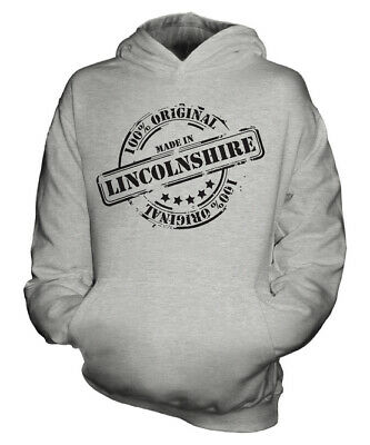 Made In Lincolnshire Unisex Kids Hoodie Boys Girls Children Gift Christmas