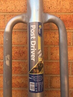 Steel Post Driver. In Near New Condition. 800mm Shaft With 35mm Handlebars. Gal