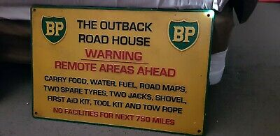 Bp Outback Roadhouse Cast Iron Roadside Sign