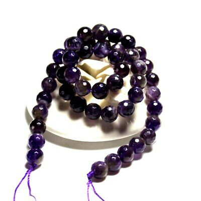 Wholesale AAA+ Faceted Amethysts Deep Purple  Natural Stone Beads For Jewelry