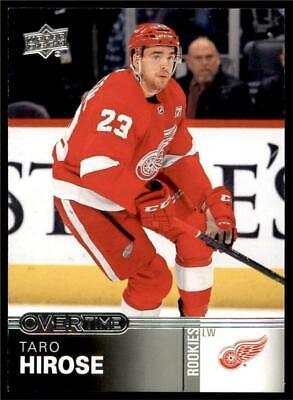 2019-20 UD Overtime Wave 1 Base #45 Taro Hirose - Detroit Red Wings