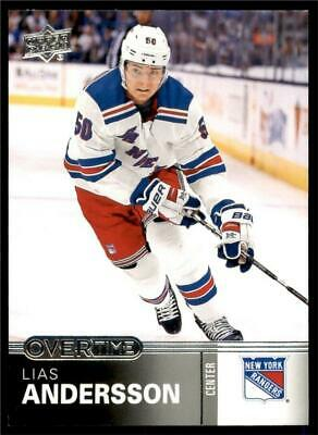 2019-20 UD Overtime Wave 1 Base #5 Lias Andersson - New York Rangers